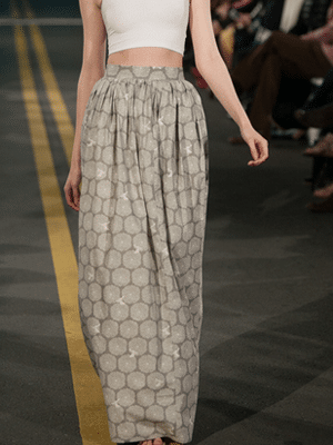 Vaute Couture patterned maxi skirt
