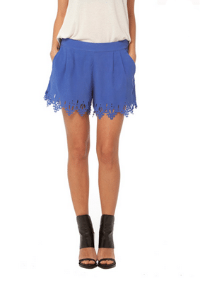Gypsy 05 lazer cute blue shorts