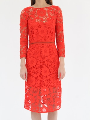 Rachel Comey red lace dress