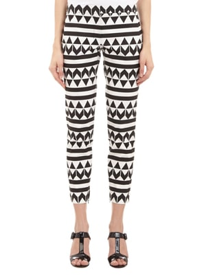 Edun geometric cigarette cut pants