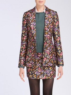 Maggy Frances Silk Flowered Blazer