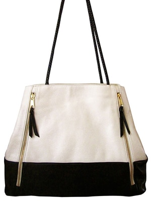 Jess Rizzuti black and white tote