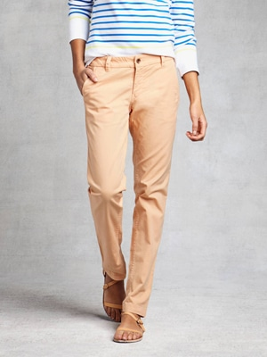 Ethical pink chino pants // Zady