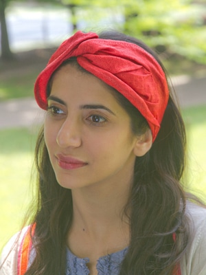 Red turban headband // made in the US