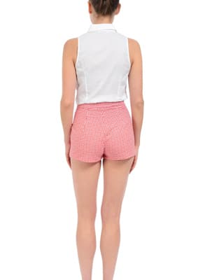 Maggy Frances red picnic checked shorts // made in the US