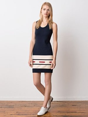 Pendleton red white and blue dress // made in the US
