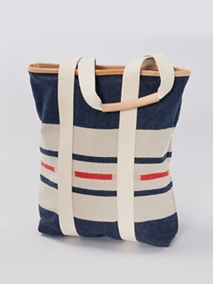 Pendleton red white blue beach tote // made in the US