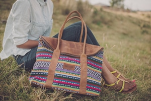 Parker Cole // made ethically from Ethiopian leather and textiles