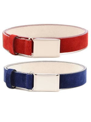 Red and Blue Suede Belts // made in the US