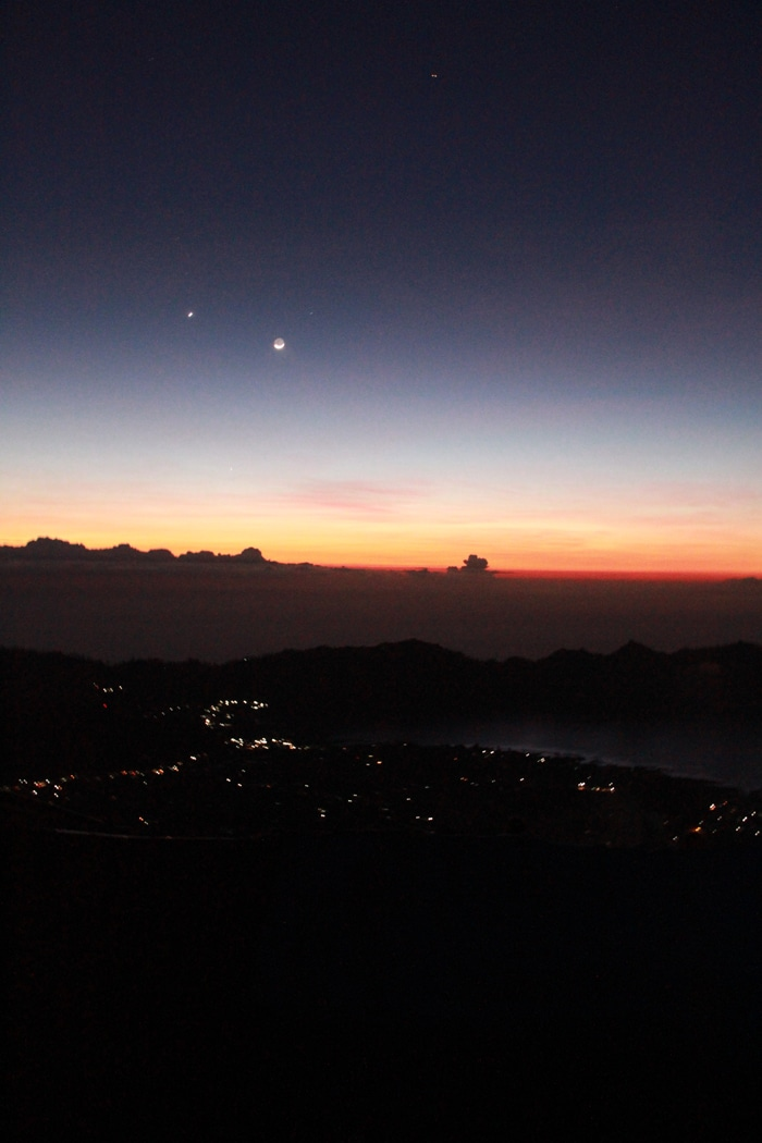 Sunrise hike to Mount Batur