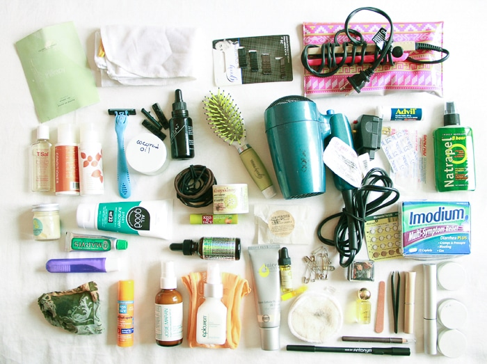 Packing list for Bali: toiletries