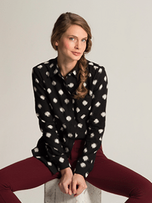 Classic Button Down in Ikat by Carrie Parry // made in NYC Garment District