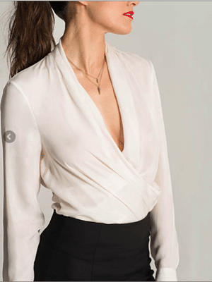 Draped Blouse by Carrie Parry // made in NYC Garment District