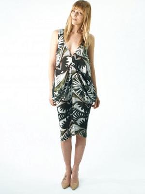 H Fredrikkson palm print dress