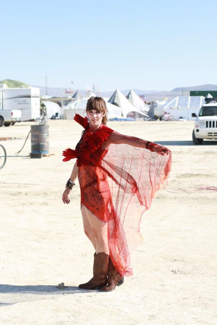 Vintage dress Burning Man