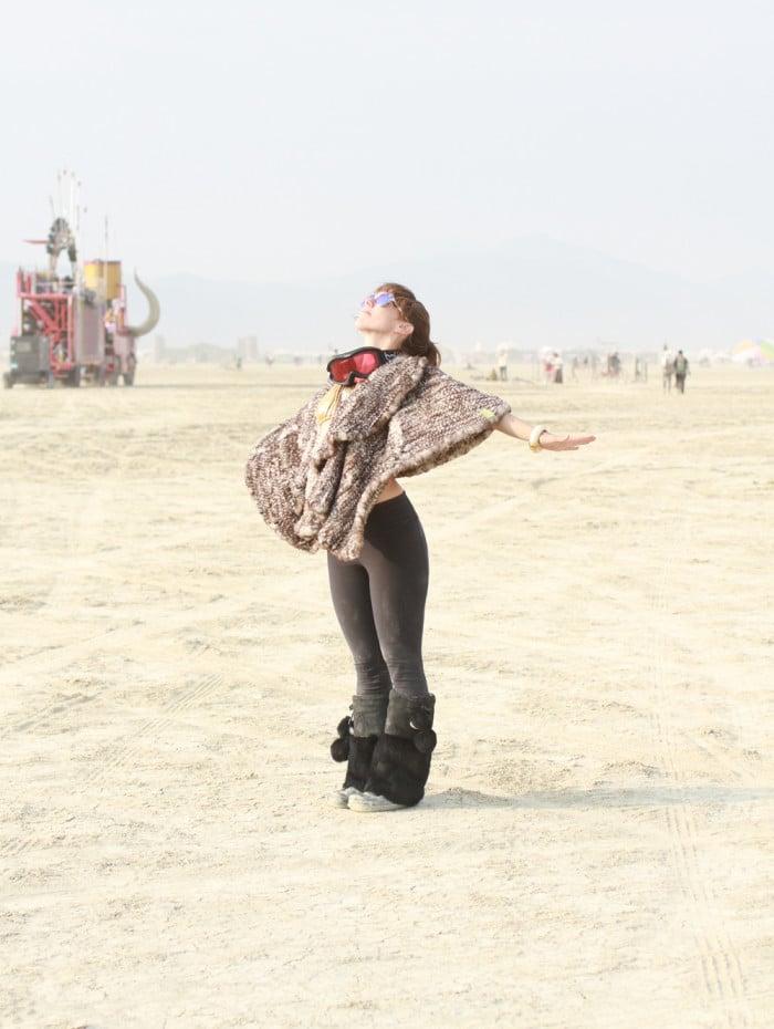 Alden Wicker at Burning Man