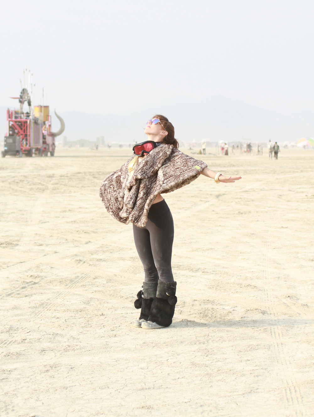 Alden Wicker at Burning Man