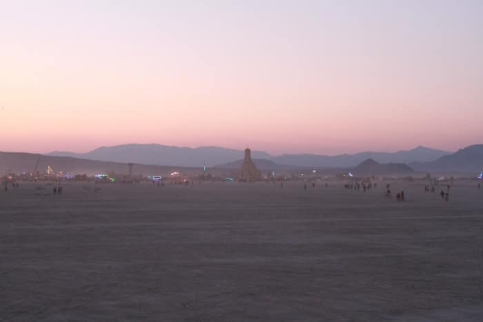 Burning Man sunrise