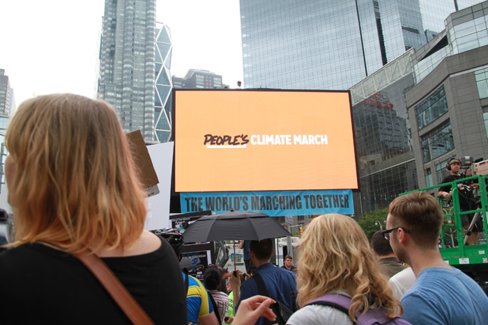 People's Climate March LED screen