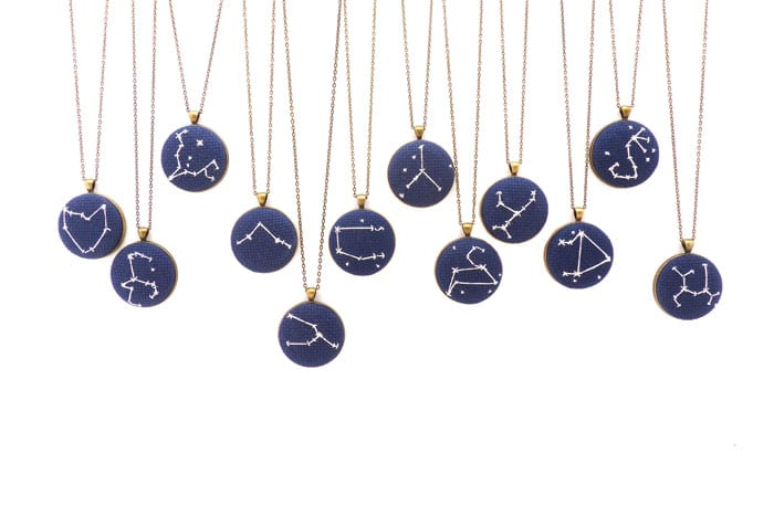 Zelma Rose zodiac necklace