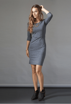 Nicole Bridger Dress | Made of 59% Viscose, 33% PES, 8% Cotton | Ethically made in Canada.