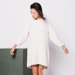 Eco-friendly sweater dress