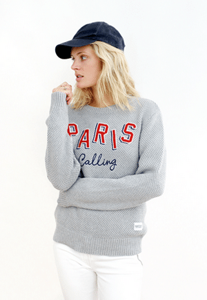 Paris Calling graphic sweatshirt eco-friendly