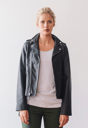 The Sway classic leather jacket | leather made from upcycled leather