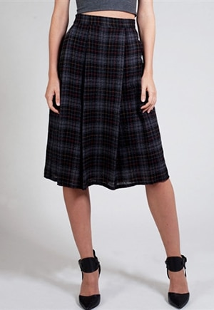 Arkins Pleat Skirt | Made in NYC from a renewable resource