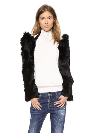 Maison Martin Margiela Alpaca Fur Shrug // alpaca from Peru, made in Italy