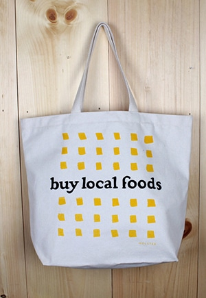 Buy Local Foods Tote // 100% organic // made in New Jersey