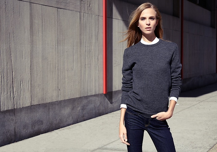 Zady .01 Sweater - made ENTIRELY in the USA, from the wool, to the yarn, to the final product. Ethical to the max!