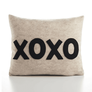 Brooklyn-made pillow has recycled polyester fill insert, and felt made from 100% post consumer recycled water bottles.