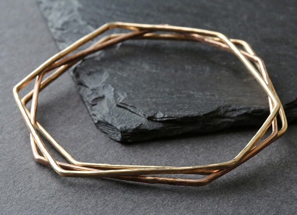 Hex Bangle // Alexis Russell // recycled metal