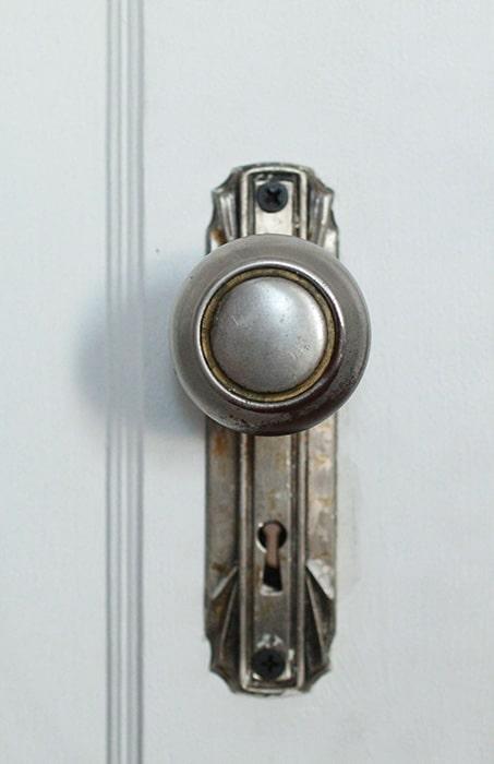 Vintage doorknob with key hole - mortise lock