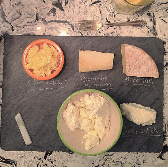 The cheeseboard I got for Christmas, kitted out with local and organic cheeses.