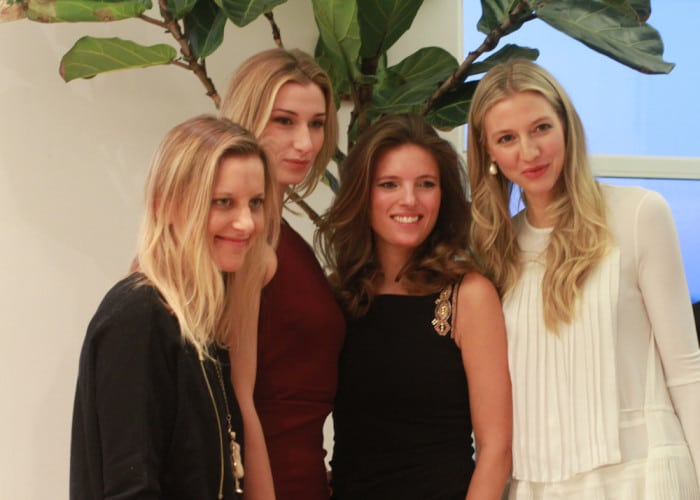 Center: Laura Remington Platt of Vênsette and Clémence von Mueffling of Beauty and Wellbeing