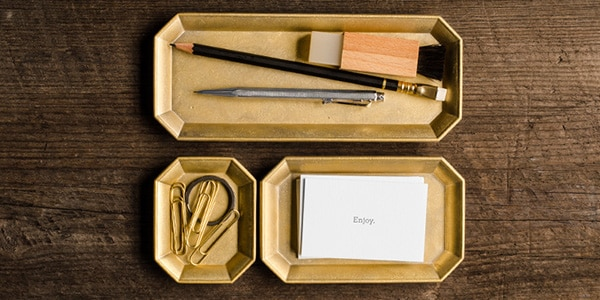 Mother's Day gift: brass desk trays
