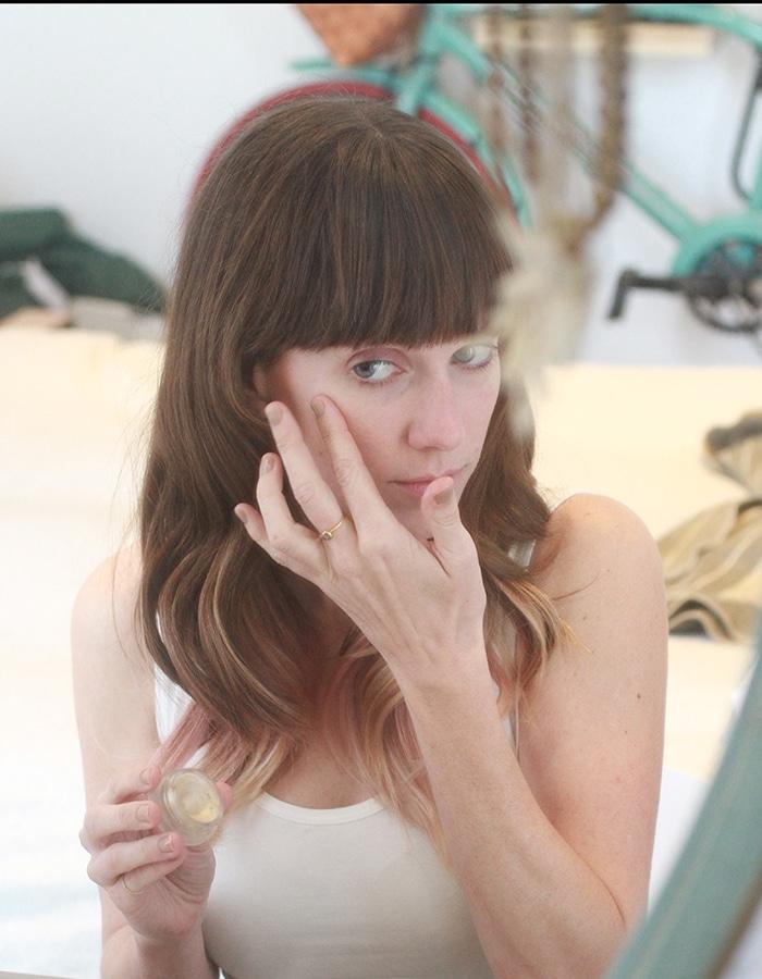 Organic makeup routine