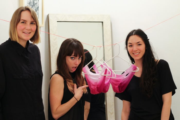 Elizabeth, me, and Monica with our drying panties.