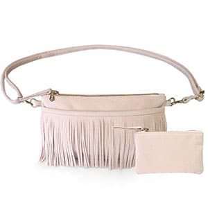 Non-exploitative festival fashion // Fringe hip bag made in Los Angeles