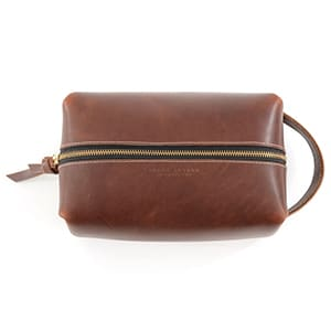 Father's Day // Leather dopp kit