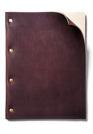 Father's Day // Leather journal
