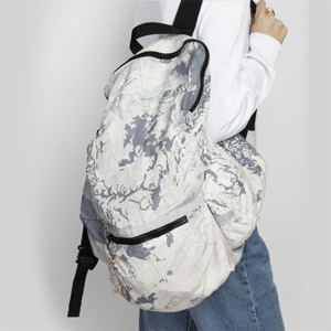 Map print backpack // eco-friendly beach essentials