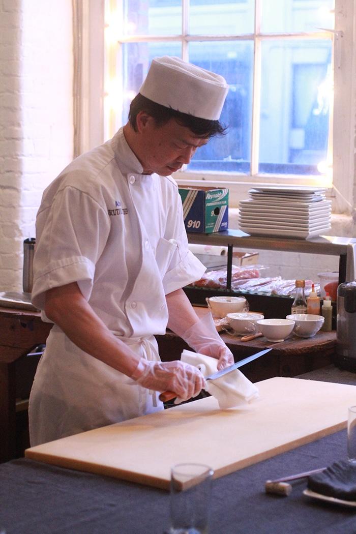 Sushi chef Albert