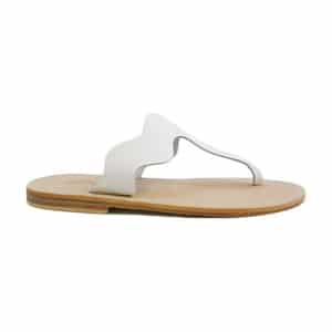White sandals // eco-friendly beach essentials