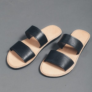 Fair trade two-strap sandals // eco-friendly beach essentials