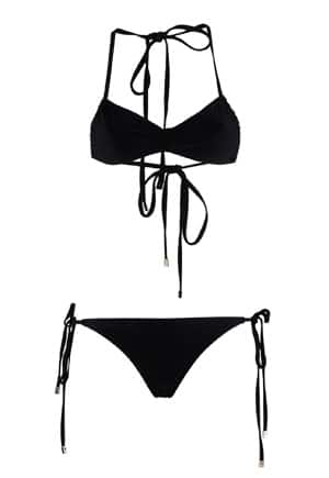 Araks black tie bikini // eco-friendly beach essentials