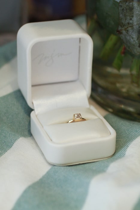 Melissa Joy Manning diamond engagement ring