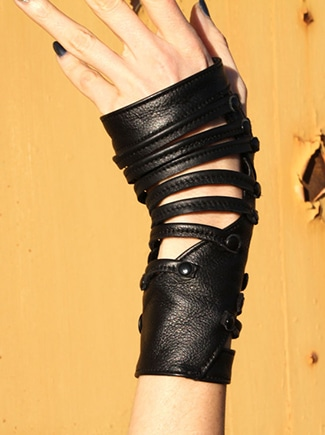 Badass gloves made from recycled leather.